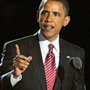 「オバマ氏勝利宣言」