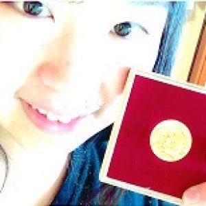「16年前の誕生金メダル」